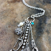Silver Charm Mermaid Necklace
