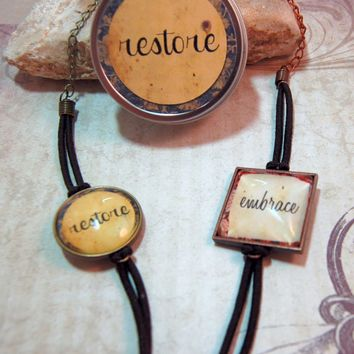 2 One Word Custom Bracelets Your Word for 2014 on Cord Bracelet in Matching Gift Tin Personalized for friends moms teens - $30.00 - Handmade Root, Crafts and Unique Gifts by Marna's HissyFits