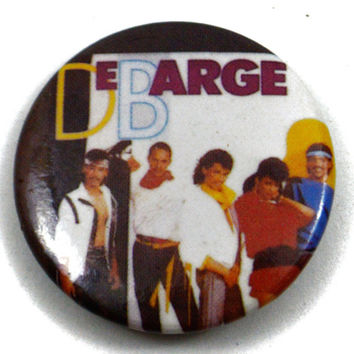 Vintage 80s DeBarge Pinback Button Pin Badge