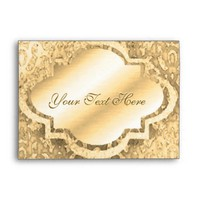 Metallic Gold Looking Envelope