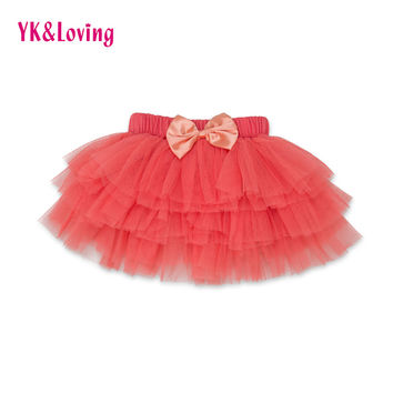 2017 New Baby Girl Tutu Skirt 6 layers Candy Colorful Half-length Pettiskirts Tulle Newborn Tutu Skirts Toddler Party Clothing