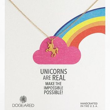 Women's Dogeared 'Unicorns are Real' Pendant Necklace (Nordstrom Exclusive)