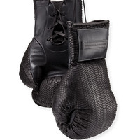 Elisabeth Weinstock Matte Watersnake Boxing Gloves, Black