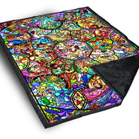 iOffer: All Disney Heroes Stained Glass on Blanket for sale