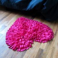 Feel Love Collection Heart Shaped Rug in Hot Pink by talkingsquid