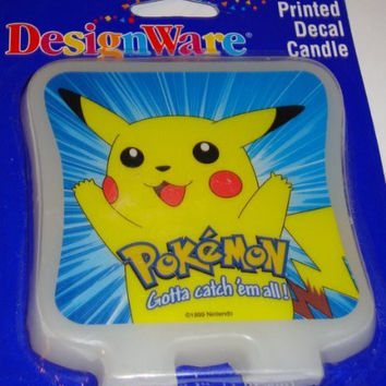 Pokemon Pikachu Printed Decal Candle Cake Topper by Designware