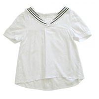 Groove-Market.com [*White Sailor Top*]cute