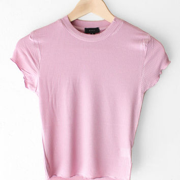 Basic Crop Top - Mauve