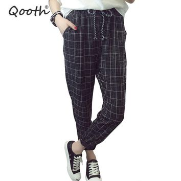 2018 Summer Fall England Style Women's Trouser Fashion Design Harem Pants With Pocket Casual Pants Size S-3XL 4 Colors DN291