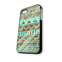 Mint Green Aztec Geometric iPhone 5/5S Case
