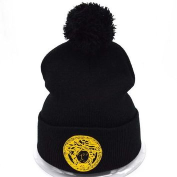 Day-First™ Versace Women Men Embroidery Beanies Winter Knit Hat Cap