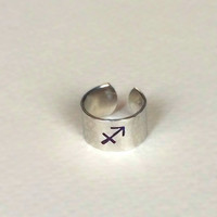 Zodiac Ring / Stackable Ring / Adjustable Ring /  Yoga jewelry