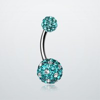 Polka Dot Tiffany Inspired Sparkle Ferido Belly Ring