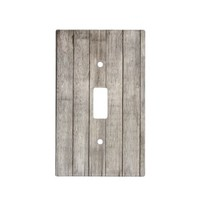 Rustic Country White Washed Faux Wood Switch Plate Cover