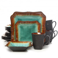 Gibson Regal Weave 16pc Dinnerware Set