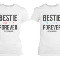 Bestie Forever Matching White T-Shirts - 365 Printing Inc