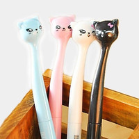 Cartoon Cat Head Gel Pen(Random Color) = 1929968964