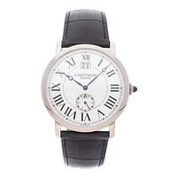 Cartier Rotonde Mechanical (Hand-Winding) Silver Dial Mens Watch W1550751 (Certified Pre-Owned)