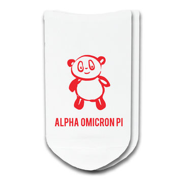 Alpha Omicron Pi - Sorority Icon No-Show Socks