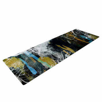 "Iris Lehnhardt ""Tree Of Life"" Abstract Blue Yoga Mat"
