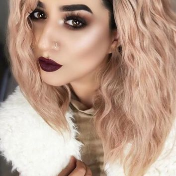 Ombre Beauty Pink Lacefront Wig Regal