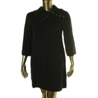 Style & Co. Womens 3/4 Sleeves Knee-Length Sweaterdress