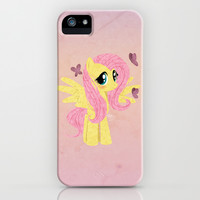 Fluttershy iPhone & iPod Case by Francesca B.