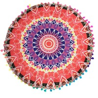 velvet covers Indian Mandala Floor Pillows decorative throw pillow
