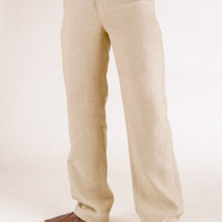 Linen Amalfi Pant - Linen Pants for Men, Zip-Fly, Button Closure - Island Importer