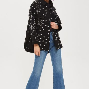PETITE Star Embroidered Shacket | Topshop