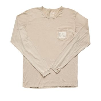 Stacked L/S Pocket Tee - Sand
