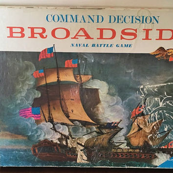 Vintage 1962 Command Decision Broadside - Naval Battle Game - Board Game /Retro War Game / Collectible / Milton Bradley Games / Complete