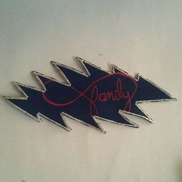 Family Is Forever 13 Point Bolt Patch, Grateful Dead Patch