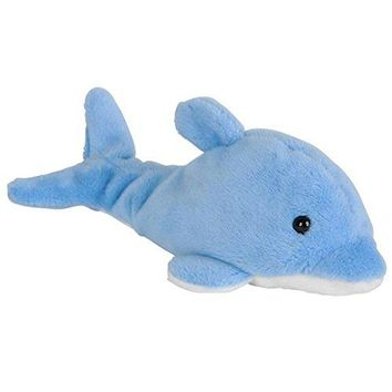 Wildlife Tree 3.5 Inch Blue Dolphin Mini Small Stuffed Animals Bulk Bundle of Ocean Animal Toys or Sea Party Favors for Kids Pack of 12