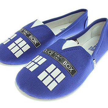Doctor Who Womens Blue Tardis Slip On Shoes