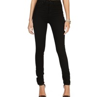 Black Denim High Waisted Pants