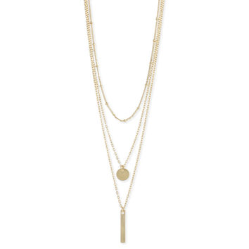 Gold Delicate Chain Charms Necklace