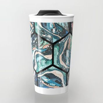 Abstract - Title- Pattern Travel Mug by Salome