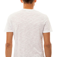 All Day Shirt Short Sleeve Henley in White