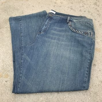 VENEZIA Women's Plus Size Light Wash Denim Jeans, Size 28 / 4X