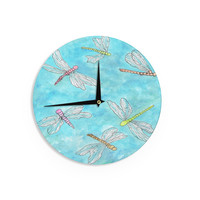 """Rosie Brown """"Dragonfly"""" Wall Clock"""