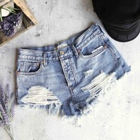 free people - loving good vibrations cut off shorts - Somerset