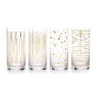 Mikasa® Cheers Metallic Gold Highball Glasses (Set of 4)