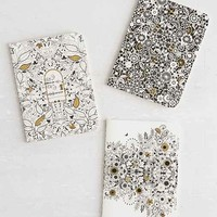 Secret Garden Mini Journal Set- Black Multi One