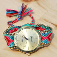 Flora Friendship Bracelet Watch