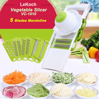 Multifunctional Mandoline Slicer with 4 Interchangeable Stainless Steel Blades -Vegetable Cutter Peeler Slicer Grater VC-1010