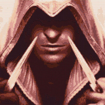Ezio Auditore - Assassins Creed 2 Cross Stitch Pattern