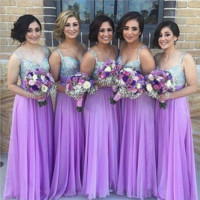 Sequins Bridesmaid Maxi Evening Dress  B0015344