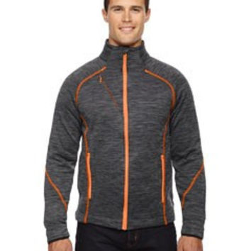 North End Sport Red Men's Flux Melange Bonded Fleece Jacket