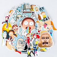 35Pcs/bag American Drama Rick and Morty Funny Sticker decal fridge skateboard cut doodle sticker toy stickers